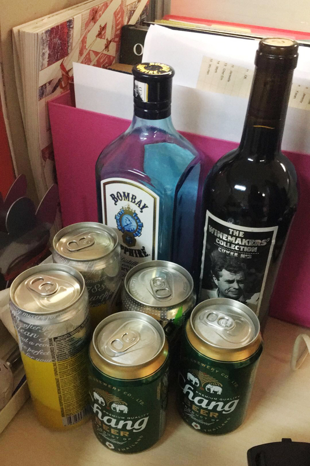 alcohol stash