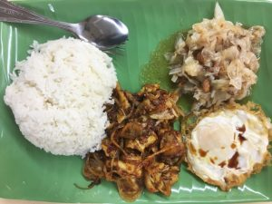 Sambal fish rice