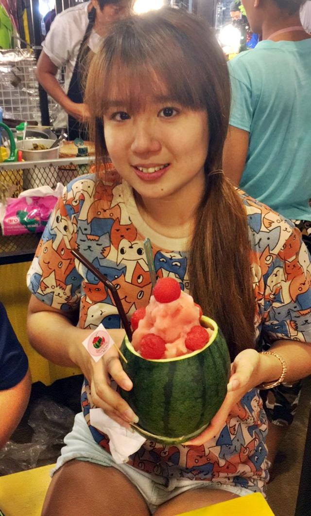Bangkok watermelon dessert
