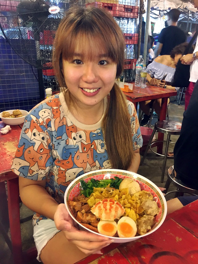 Rot Fai Market giant noodles