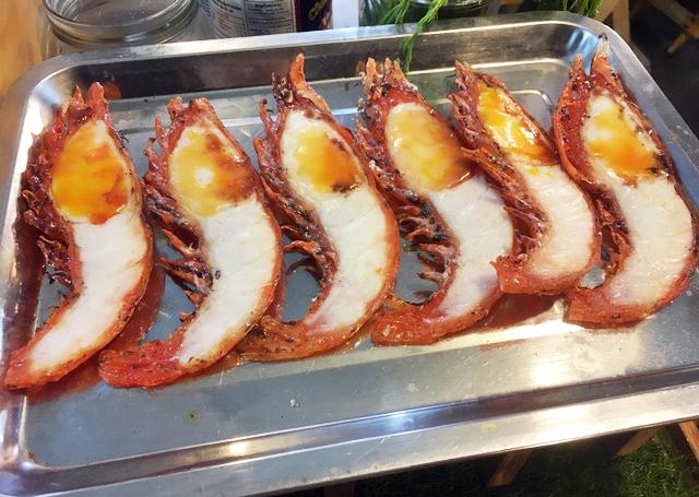 Bangkok grilled prawns